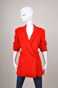 Vintage Galanos Fuzzy Red Jacket