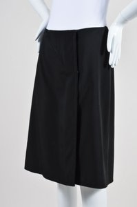Prada Wrap Mid Length Skirt Black