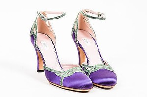 Prada Luxuri Green Purple Pumps