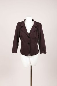 Max Mara Max Mara Dark Brown Cotton Stretchy Blazer