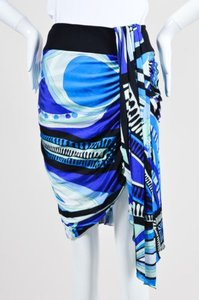 Emilio Pucci Blue Green Black Skirt Multi-Color