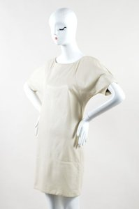 Haute Hippie short dress Beige Leather on Tradesy