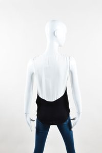 A.L.C. Alc White Color Block Top Black