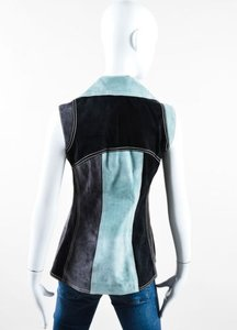 Derek Lam Black Gray Mint Top Multi-Color