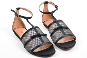ALAA Alaia Satin Mesh Black Sandals