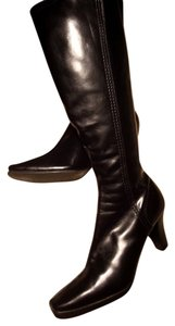 Impo Status Tall Faux Leather Side Zips Hipster Retro Black Boots