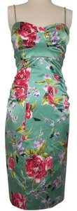 David Meister Bodycon Stretchy Floral Empire Waist Dress