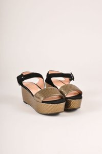Robert Clergerie Bronze Black Sandals