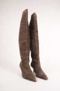 Gucci Brown Suede Knee High Boots