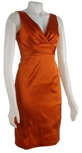 Donna Ricco Bodycon Empire Waist V-neck Dress