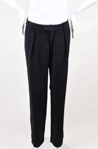 A.L.C. Navy Piped Straight Pants