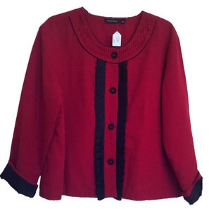 Notations Black and red Blazer