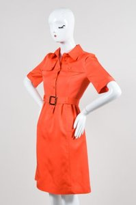 Tory Burch short dress Red Coral Silk on Tradesy