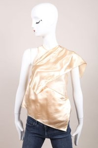 Christopher Kane Sheer Draped Sleeveless Top Nude
