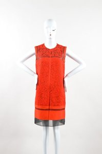 J. Mendel short dress Red J Lace Overlay on Tradesy