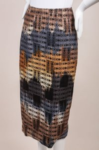 Wes Gordon Black Blue Tan Skirt