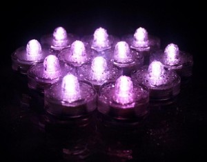 48 Pcs Led Pink Submersible Waterproof Wedding Floral Centerpiece Party Decoration Tea Candle Vase Light
