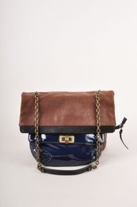 Lanvin Leather Colorblock Chain Strap Shoulder Bag