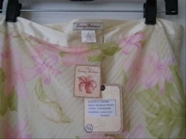 Tommy Bahama Silk Pastel Skirt Floral; yellows, greens, pinks