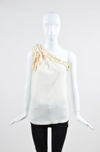 Robert Rodriguez Silk Top Cream