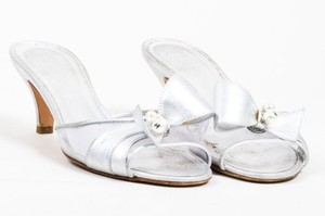 Chanel 05c Metallic Silver Clear Sandals