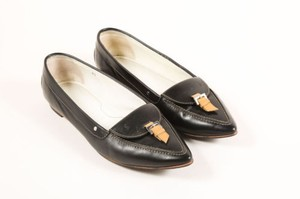 Tod's Tods Leather Pointed Black Flats