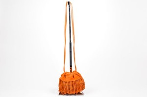 DKNY Suede Fringe Cross Body Bag