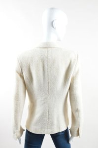 Chanel Chanel Cream Wool Boucle Double Breasted Long Sleeve Blazer Jacket