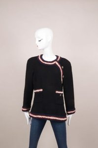 Chanel Black Navy Red Cream Jacket