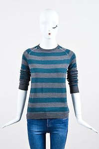 Zadig & Voltaire Gray Teal Sweater