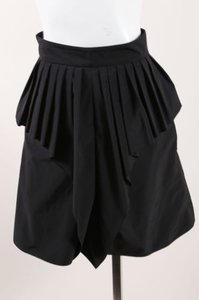 Sportmax Pleated Peplum Skirt Black