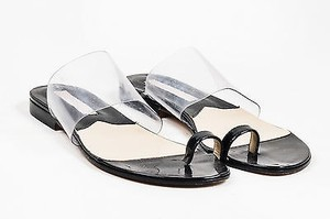 Michael Kors Black Patent Clear Sandals
