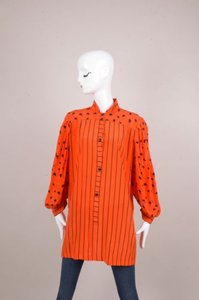 Vintage Yves Dupuis Capri Top Orange