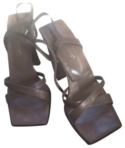 Charles David Heels Nude Pumps Taupe/Mocha Sandals