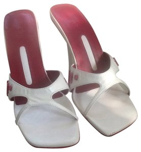 Charles David Sexy Heels White/Red Sandals