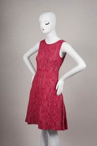 Chanel short dress Red Pink Sleeveless on Tradesy