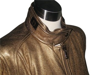 Dolce&Gabbana Metallic Gold Leather Jacket