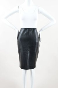 KAUFMANFRANCO Kaufman Franco Leather Skirt Black