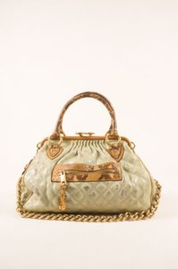Marc Jacobs Cream Tan Coated Satchel