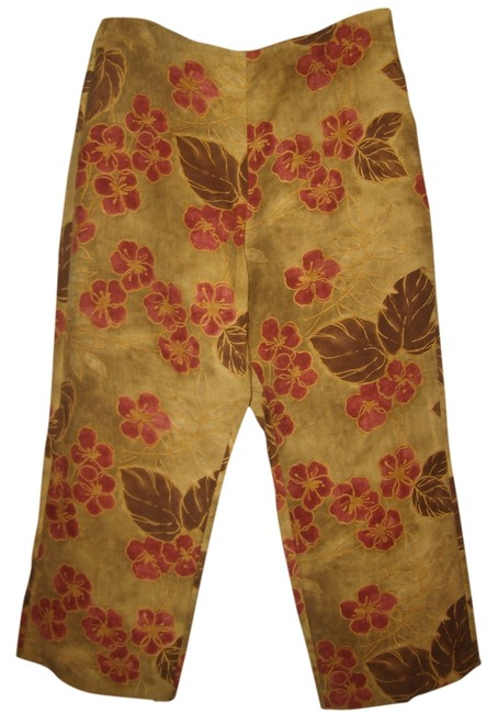Tommy Bahama Capris Multi color earthy shades