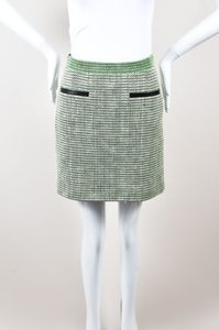 Proenza Schouler Green Black Mini Skirt Multi-Color