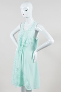 3.1 Phillip Lim short dress Green Mint Perforated Cinched Asymmetrical Sleeveless on Tradesy
