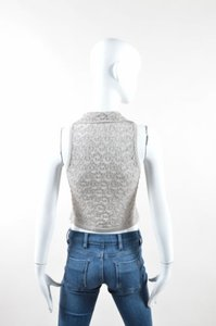 ALAÏA Alaia Metallic Knit Top Silver