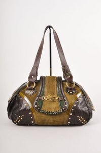 Etro Patched Stud Embellished East West Handbag Shoulder Bag