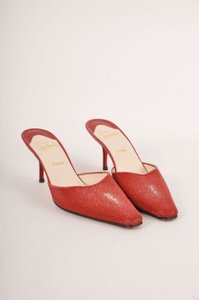 Christian Louboutin Red Mules