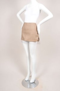 Alexander McQueen Brown Cream Mini Skirt