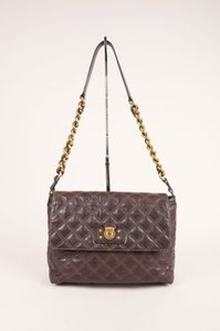 Marc Jacobs Gray Gold Tone Shoulder Bag