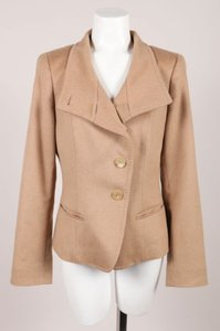 Max Mara Brown Camel Hair Tan Jacket