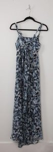 Maxi Dress by Thakoon Blue Diamond Print