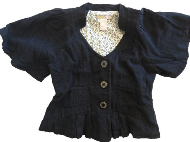 Other Jacket Cropped Bell Sleeves Black Blazer